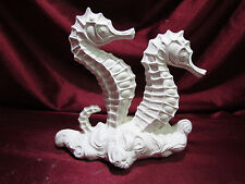 Ceramic Bisque Seahorses on Waves U-Paint Ready to Paint Ocean Fish Sealife