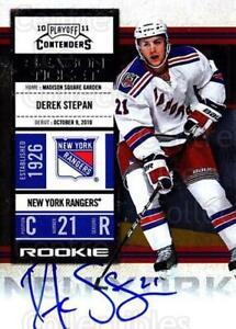 2010-11 Panini Contenders #151 Derek Stepan