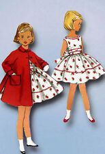 1950s Vintage Simplicity Sewing Pattern 1936 Toddler Girls Dress and Coat Size 5