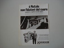 advertising Pubblicità 1968 AUTORADIO VOXSON JUNIOR e FIAT 500