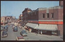 Postcard MONCTON New Brunswick/CANADA  Main Street Business Storefronts 1940's