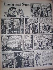 Lang and Son Horlicks cartoon advert 1952
