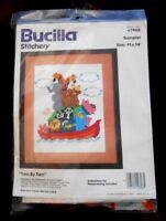 "Bucilla Stitchery Kit No. 49608 Sampler TWO BY TWO - 11"" X 14"" - New"