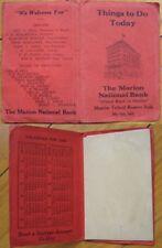 1926 Pocket Calendar - National Bank-Marion, Indiana IN