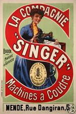 AFFICHE ANCIENNE MACHINE A COUDRE SINGER VINTAGE POSTER SEWING MACHINE - MENDE