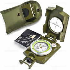 Professional Military Army Metal Sighting Compass w/Inclinometer Geology Outdoor