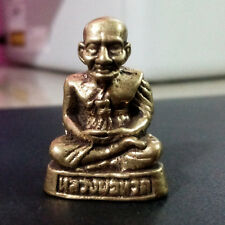 Thai Amulet Buddhist Legend monk LP Thuad figurine Brass Protect Lucky DAF