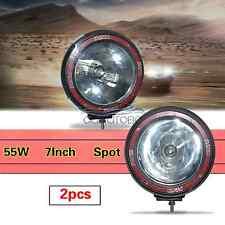 "2x 7Inch Off-road 55W HID XENON Spot Working Lamp Car SUV Fog Driving Lights 7"""
