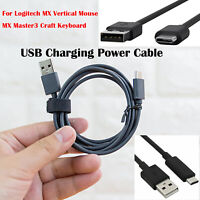 USB Charging Power Cable Set for Logitech MX Vertical Mouse MX Master3 Data Line