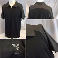 Mountain Hard Wear Polo Shirt L Black Gray 1/4 Zip Poly NWOT YGI E9-93