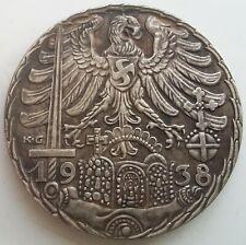 German Reiches Medal Silvered Bronze Pre-War Mitter 1938 Germany Exonumia Token