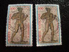 VATICANO - sello yvert y tellier nº 812 x2 matasellados (A28) stamp