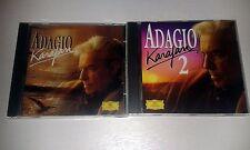 2 cds ADAGIO & ADAGIO 2 KARAJAN DEUTSCHE GRAMMOPHON DG CDS