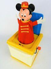 1987 MATTEL VINTAGE DISNEY MICKY MOUSE JACK IN BOX WIND UP TOY K48
