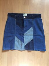 River Island 70s Patchwork A-line Denim Skirt - Size 12