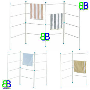 2, 3, 4 Fold Airer Clothes Drying Rack Folding Laundry Horse Holder 4 Tier New