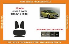 pellicola oscurante vetri pre-tagliata Honda civic 5 porte dal 2012 in poi post