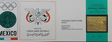 NORTH YEMEN JEMEN YAR 1968 793 Summer Olympics Mexico GOLD Folder Chariot Race
