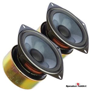 PAIR - Diatone 4 inch full range speakers - 60-18khz - 50 watts - 89dB - NOS