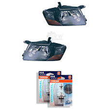 Headlight Set Mitsubishi Pajero Type V60 Year 00-06 Black H4 Incl. Lamps Our