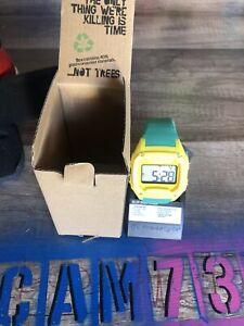 Freestyle Shark Classic LCD XL Yellow/Green Plastic Digital Watch Travis Scott