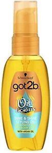 Schwarzkopf Got2b Oil-Licious Tame & Shine Styling Hair Oil with Argan Oil