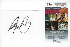 PACKERS Aaron Rodgers signed 3x5 index card w/ #12 JSA COA AUTO Green Bay rare