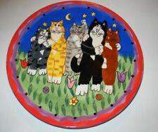 """2001 Catzilla Cat Plate Candance Rieter Designs 8"""""""