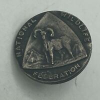 Vintage National Wildlife Federation Bighorn Sheep Lapel Pin Q4