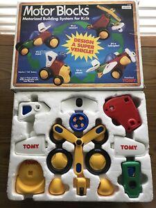 TOMY Preschool Motor Blocks Motorized Building System Kids 1158 Race car Plane