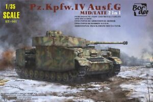 Border Model BT001 - 1:3 5 Pz.kpfw.iv Version G Mid/Late 2 IN 1 - New