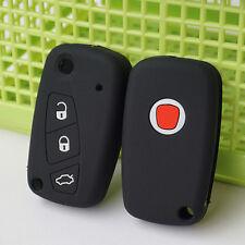 Black Silicone Car Key Case Cover for FIAT Panda Stilo Punto Doblo Grande Bravo