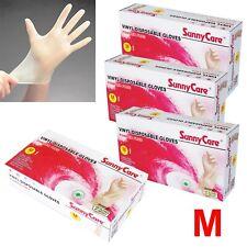 400pcs SunnyCare Powder Free Vinyl Gloves Food Service (Latex Nitrile Free) 🔥 M