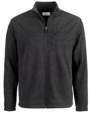 Greg Norman Mens Golf Sweater Black Size Medium M Fleece Full-Zip $70 108