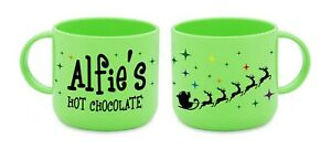 Christmas Hot Chocolate Polymer Mug Personalised Childrens Gift Kids Toddler 6oz