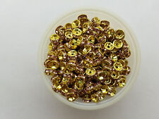 50 rose stone on gold 6mm wedding rings rhinestone beads