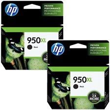 2016 2 Pack HP 950XL Black CN045AN Genuine Ink Cartridges Office Jet Pro 8600