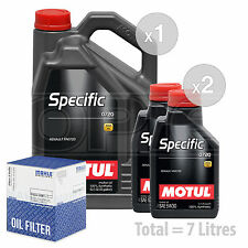 Engine Oil and Filter Service Kit 7 LITRES Motul Specific 0720 5W-30 7L