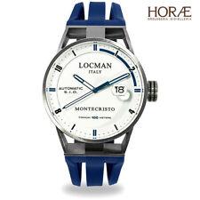 Orologio Uomo Locman Montecristo 051100WHFBL0GOB blu gomma bianco automatico