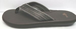 Sanuk Size 7 Brown Sandals New Mens Shoes