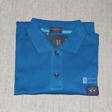 PAUL & SHARK YACHTING BLUE POLO COTTON MENS SHIRT XL BNWT