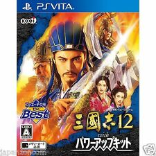 Sangokushi 12 with Power The Best PS Vita SONY JAPANESE NEW JAPANZON