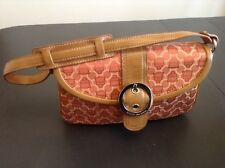 Kathy van Zeeland Burnt Orange Handbag Expandable Purse EUC