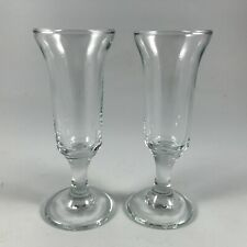 "LIBBEY Glass ""EMBASSY"" 2 Stemmed CORDIAL GLASSES 4-1/4"" - Tulip shape"