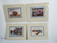 Ed Gifford Amish Photographic Images (4) 4x6 w/ 8x10 Mat Unframed
