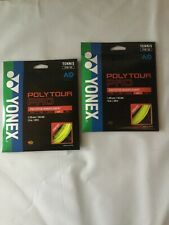 New Yonex Poly Tour Pro tennis string, 1.25mm/16Lg, Flash Yellow - 2 sets