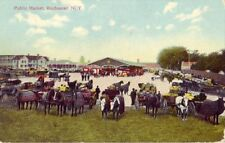 1909 PUBLIC MARKET, ROCHESTER, N. Y. vendors with horse-drawn wagons
