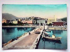 LA SPEZIA Panorama Molo d'Italia vecchia cartolina