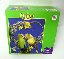 Junior Puzzle Birds Parakeets 100 Pieces 12.5 x 15 by Milton Bradley