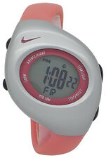New Nike Kids Triax Junior WR0017 Pink Silver Digital Sports Chronograph Watch